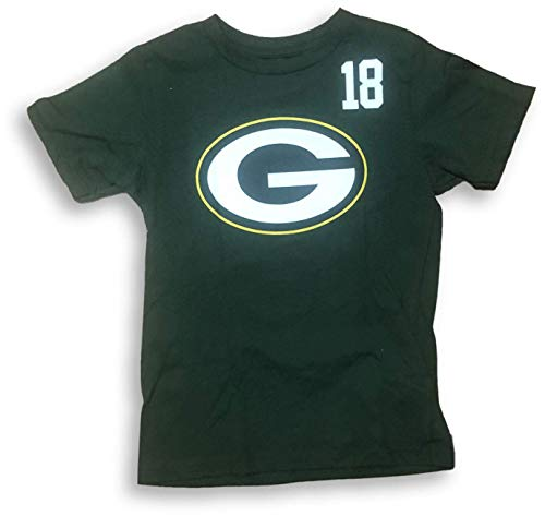 NFL Team Apparel Green Bay Packers Randall Cobb #18 Boy's Youth Jersey T-Shirt (X-Large 16/18)