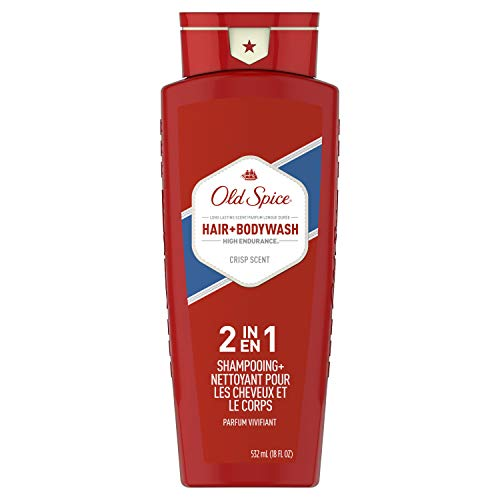 High Endurance 2 In 1 Hair and Body Wash Crisp Scent Men Body Wash by Old Spice, 18 Ounce by Old Spice