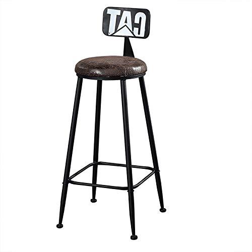 JHTTDZH Taburete De Bar,Asiento De Cuero con Estructura De Metal, 4 Reposapiés Se Puede Utilizar como Encimera De Cocina para Sillas De Barra De Desayuno (40 × 105 Cm)