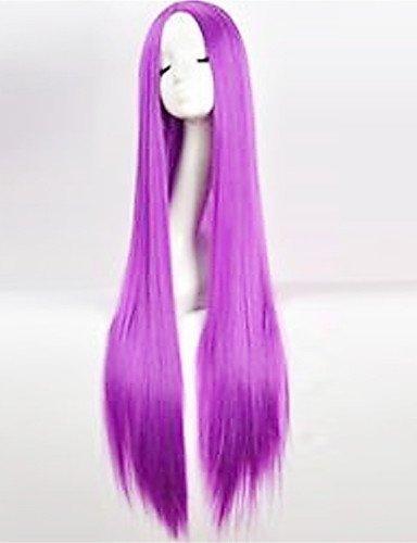 JIAYY Europe et États-Unis la nouvelle perruque de couleur 100 cm brillant de soie à haute température longues perruques de cheveux lisses de couleur , 34 inch