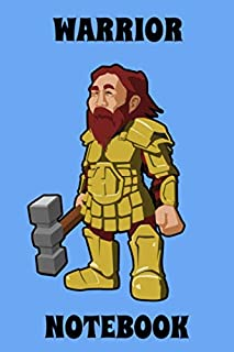 Warrior - Notebook - Hammer - Blue - Black - Yellow - College Ruled (Knight)