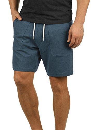 Blend Mulker Herren Sweatshorts Kurze Hose Jogginghose mit Kordel Regular Fit, Größe:L, Farbe:Ensign Blue (70260)