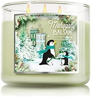 Bath & Body Works MAHOGANY BALSAM 14.5 Oz 3 Wick Large Jar Candle New 2015