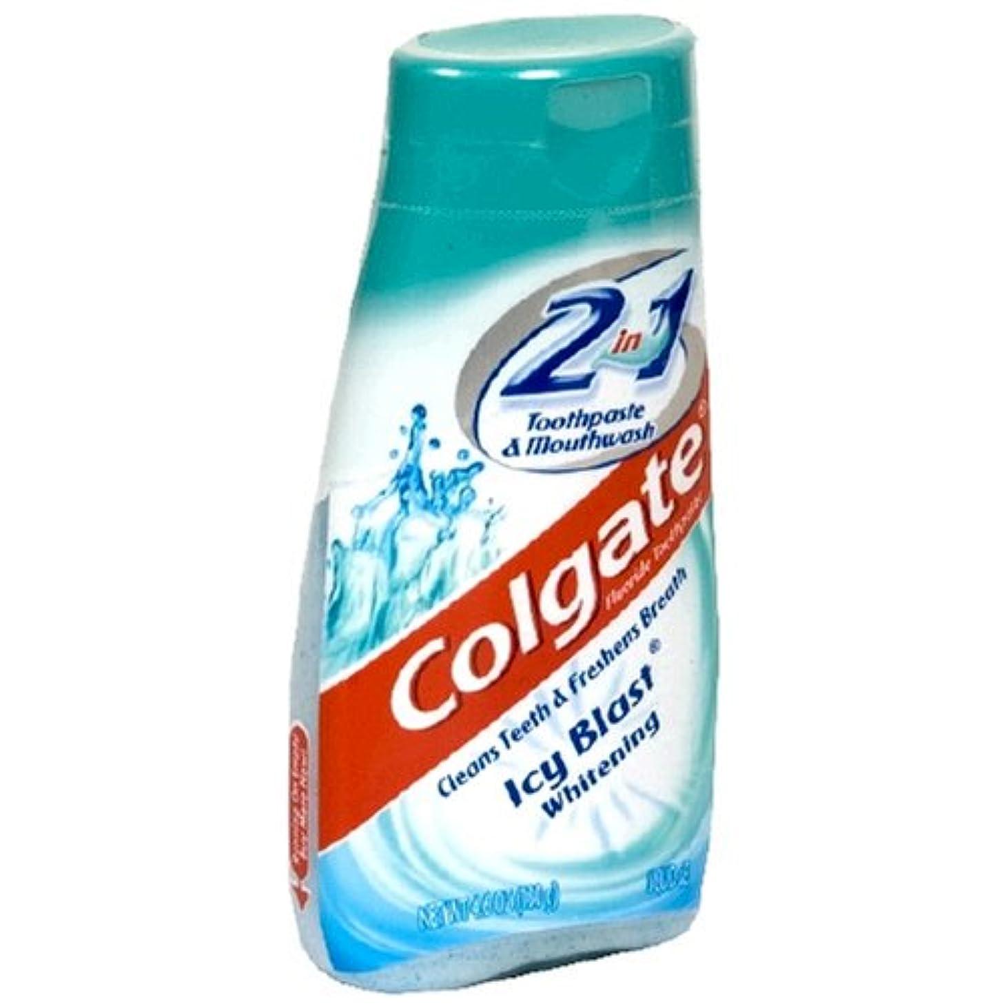 月曜日死ぬ服を洗うColgate 2で1歯磨き粉およびマウスウォッシュ、美白アイシーブラスト - 4.6オズ