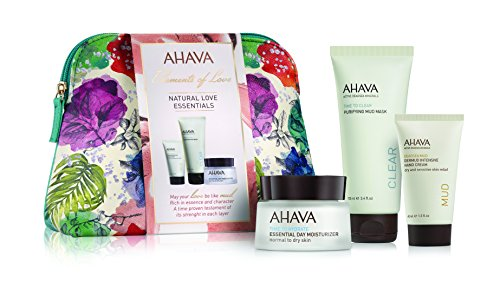 AHAVA Natural Love Essentials Gesichtspflegeset (Feuchtigkeitscreme,50ml+Maske,100mlMask+Handcreme,40ml)