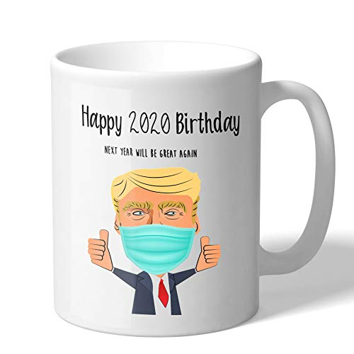 MugBros Happy Birthday 2020 Funny Quarantine Birthday Gift 11 Ounce Novelty Coffee Mug