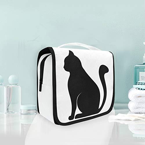 Sac à cosmétiques voyage sac de toilette accroché sac de rangement de voyage chat élégant sac de maquillage portable pochette sac organisateur pour le