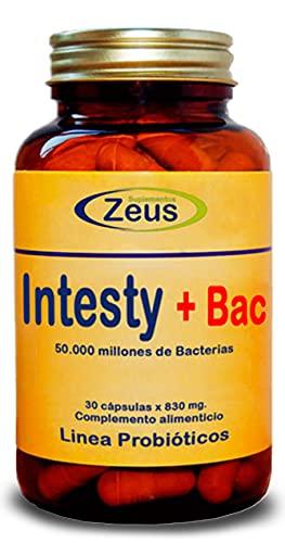 INTESTY+BAC | Contribuye a equilibrar y regular la microbiota intestinal | Complemento Alimenticio a base de Fibersol®- 2, L-Glutamina, Probióticos y Vitamina B6 | 30 Cápsulas Vegetales