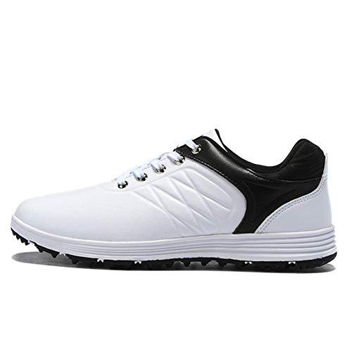 Zapatos De Golf Para Hombres, Zapatos De Entrenamiento De Golf Cómodos, Antideslizantes, Impermeables, Sin Púas, Zapatillas De Correr Casuales, Botas De Golf De Cuero Transpirables,Multi colored,43