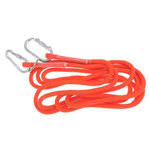 LIOOBO 5 Mt Orange und Silber Höhenlage Betrieb Outdoor Sicherheitsgurt Sicherheitszone Hosenträger Doppelseil Klettern Sicherheitsgurt Anti Fallschutz Elektrische Arbeit Sicherheitsgurt