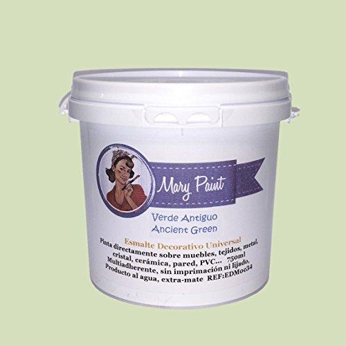 Mary Paint | Pintura para muebles efecto Chalk Paint, Verde Antiguo - 750ml