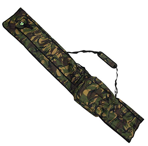 Carp On - Fishing Tackle Luggage 600D DPM CAMO 3 Plus 3 Made Up Rod and Reel HOLDALL (195 x 30cm) - For Carrying All Your Made Up Fishing Rods and Reels - Use on the Riverside or Bank [27-2120C]