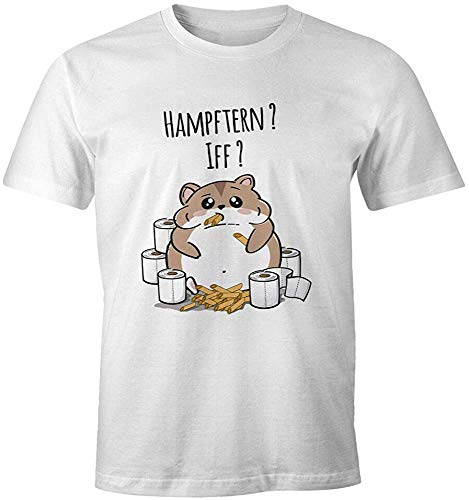 Hamster Purchases Toilet Paper Noodles T-Shirt Graphic Top Printed tee Shirt for MensWhiteS