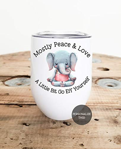 Lplpol Funny Wine Glasses, Funny Tumblers, White Elephant Gifts Funny, Go Eff Yourself, Cute Wine Glass, Sarcastic Gifts, Gag Gifts for Christmas