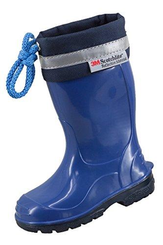 3M Scotchlite - Botas de goma para niño, color azul, talla 22