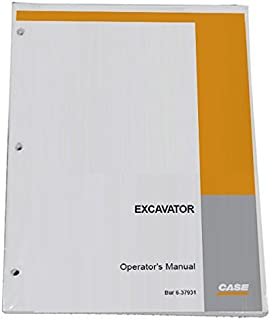 Case 888 Excavator Operator's Owners Operation & Maintenance Manual - Part Number 9-16371