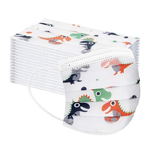 UOWEG 50STK Mundschutz Kinder mädchen,Eisseide Mundbedeckung Stoff mundschutz Baumwolle Atmungsaktive Gesichtsschutz für Camping,Laufen,Radfahren