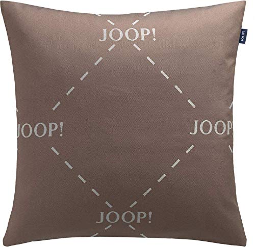 Joop! Living sierkussenhoes zonder vulling Spark Taupe Logo omkeerbaar kussen overtrek