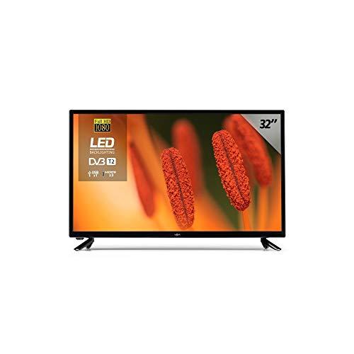 TV Led 32 Televisión Smart TV Lagom, WiFi, TDT-T2 HD, 2 HDMI, 2 USB