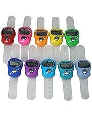 JomMart 小型 デジタル カウンター 計数器 数取器 指用 10個 セット (10色A) MJ0030