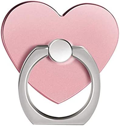 360/° Rotation 3D Auminum Alloy Ring Grip for iPad 7Plus Huawei All Cell Phone ISKIP Heart-shaped Phone Ring Holder 7 8Plus iPhone X iPhone 8 Samsung S9 Note8 Universal Phone Stand Silver