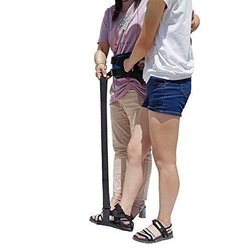 Beinhebergurt, starrer Fußheber und Griff, ältere Beine, Hebegürtel, Hilfsausrüstung für Behinderte und ältere Menschen (Farbe: B)