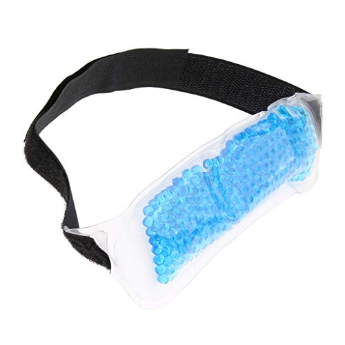 Migräneband Gelkompresse Migränekompresse Kälte- & Wärmekompressen zur Linderung von Kopfschmerzen - Blau