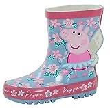 Peppa Pig Botas Wellington 3D para niñas con purpurina, color Rosa, talla 24 EU