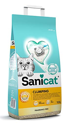 SANICAT clumping unscented 10L 🔥