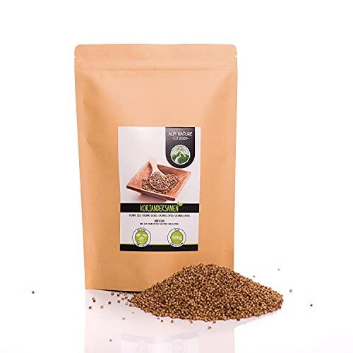 Semillas de cilantro (500g), coriandolo entero, especia 100% natural, semillas de coriandolo, sin aditivos, vegano