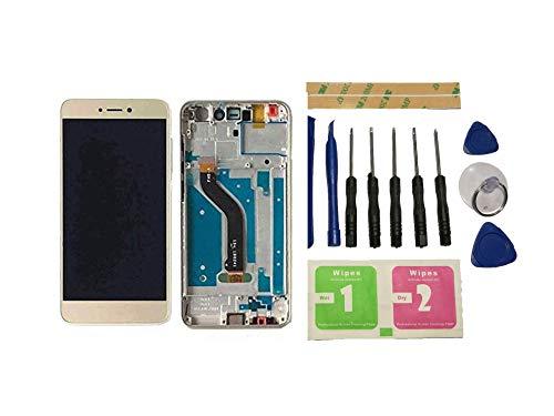 Flügel para Huawei P8 Lite 2017 PRA-LA1/LX1/LX3 Pantalla LCD Pantalla Oro Táctil digitalizador Completo Pantalla (con Marco) de Recambio & Herramientas