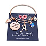 Butterfly Charm Bracelets for Women, Be Your Own Kind of Beautifully Inspirational Bangle Bracelet...
