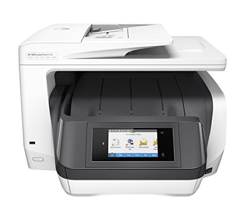 HP OfficeJet Pro 8730 All-in-One Color Photo Printer - With Mobile Printing (Print, Scan, Copy, Fax, Network, Wireless, Duplex, NFC, Pin Printing)