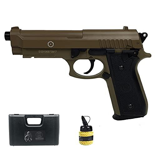 SA PT92 Tan (6MM) | Pistola de Airsoft (Bolas de plástico) de Muelle, Color Arena Tipo Taurus