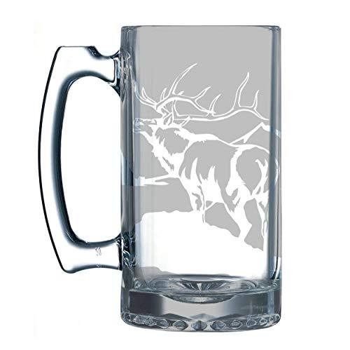 Hunting, Hunting Gear, Hunting Accessories, Hunting gifts, Hunter, Gifts for the hunter, Beer stein, Beer mug, Elk, Deer,