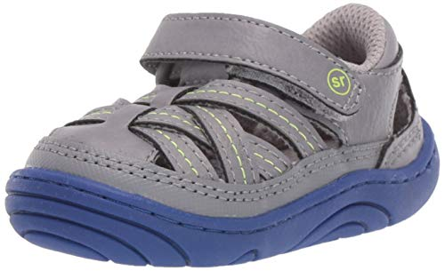 Stride Rite Boys Kyle Baby/Toddler Girl's Casual Double-Strap Sneaker, Grey, 3 M US Infant
