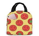 Bolsa de almuerzo con aislamiento de tomates rojos, lonchera reutilizable duradera, contenedor para mujeres / hombres / niños / picnic / trabajo / escuela