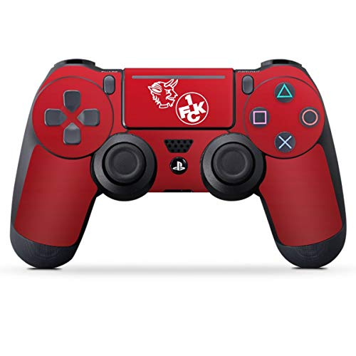 DeinDesign Skin kompatibel mit Sony Playstation 4 PS4 Pro Controller Folie Sticker 1. FC Kaiserslautern Offizielles Lizenzprodukt Teufel