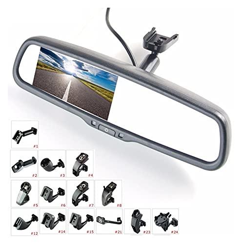 LIULIANG MeiKeL 4.3'TFT LCD Vista Posterior Retrovision Monitor de automóvil Monitor de Video 2ch con un Soporte de Montaje Especial (Color : Black)