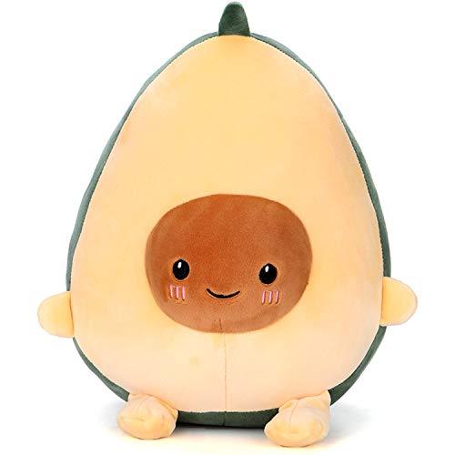 Avocado Peluche Carino Avocado Che Abbraccia Cuscino Cibo Frutta a Forma di Bambola di Pezza Giocattolo Morbido Cuscino (30cm/11.81in)