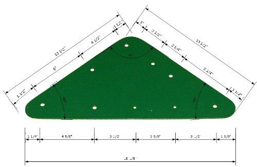 "Playkids Triangle 15"" Bracket Heavy Durty Swing Set Play Set Hardware Attachments Playground Hardware Backyard Gungle Gym Park Green Powder Coated"