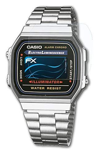 atFoliX Schutzfolie kompatibel mit Casio A168WA-1YES Folie, ultraklare FX Displayschutzfolie (3X)