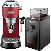 Delonghi Beans Espresso Machine,Red - EC685.R + DeLonghi Coffee Grinder