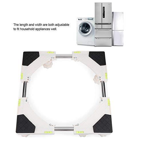 Hakeeta universeel, stabiel en verstelbaar onderstel voor wasmachine, droger, koelkast enz, 8 poten.
