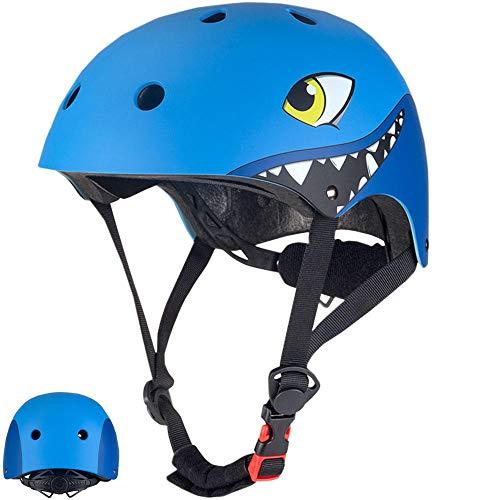KYLong Kinderfahrradhelm Abnehmbarer 2-8 Jahre Alter Kinderhelm mit Vollgesichtsmaske Mountainbike-Helm Ultraleichter Sportschutzhelm-J-699-Blau