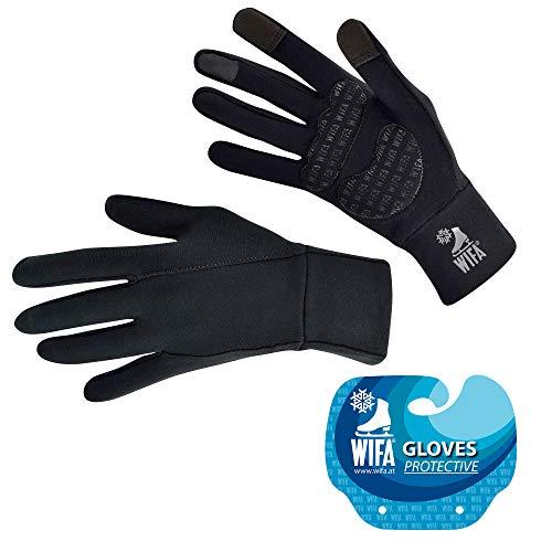 WIFA Eislauf und Sport Handschuhe gepolstert mit Gel Polsterung Touchscreen rutschfest atmungsaktiv für Kinder und Erwachsene (Größe 3)