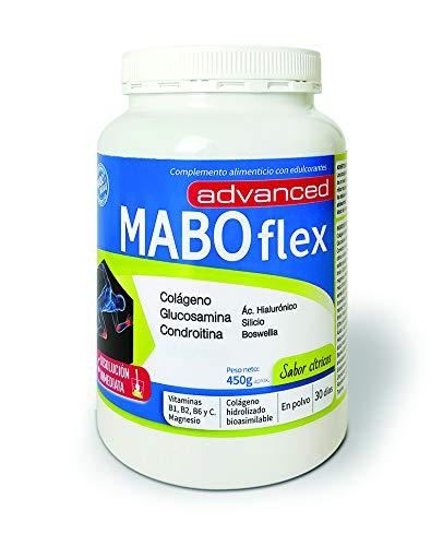 MABOflex Advanced 450 g (30 días) - Colágeno Hidrolizado en Polvo con Acido Hialurónico Magnesio Vitamina B1 B2 B6 Glucosamina Condroitina - Sabor Cítricos