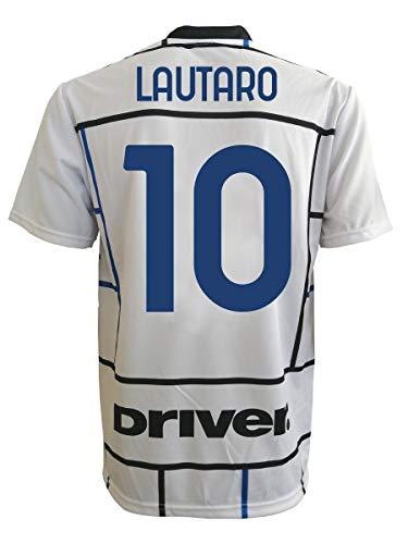 L.C. SPORT Inter Lautaro Martinez 10 genehmigte Nachbildung 2019-2020 Kinder (Größen 2 4 6 8 10 12) Erwachsene (S M L XL), Schwarz , 2-3 anni