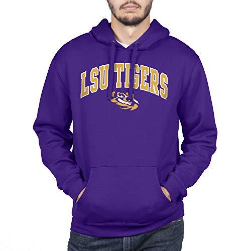 Top of the World Herren Kapuzenpullover NCAA Team Color, Herren, Team Color Hoodie Sweatshirt, LSU Tigers Violett, Medium