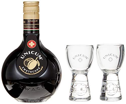 Unicum Zwetschke in Geschenkpackung mit zwei Gläsern (1 x 0.7 l)